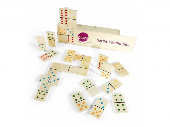 Set of garden dominoes