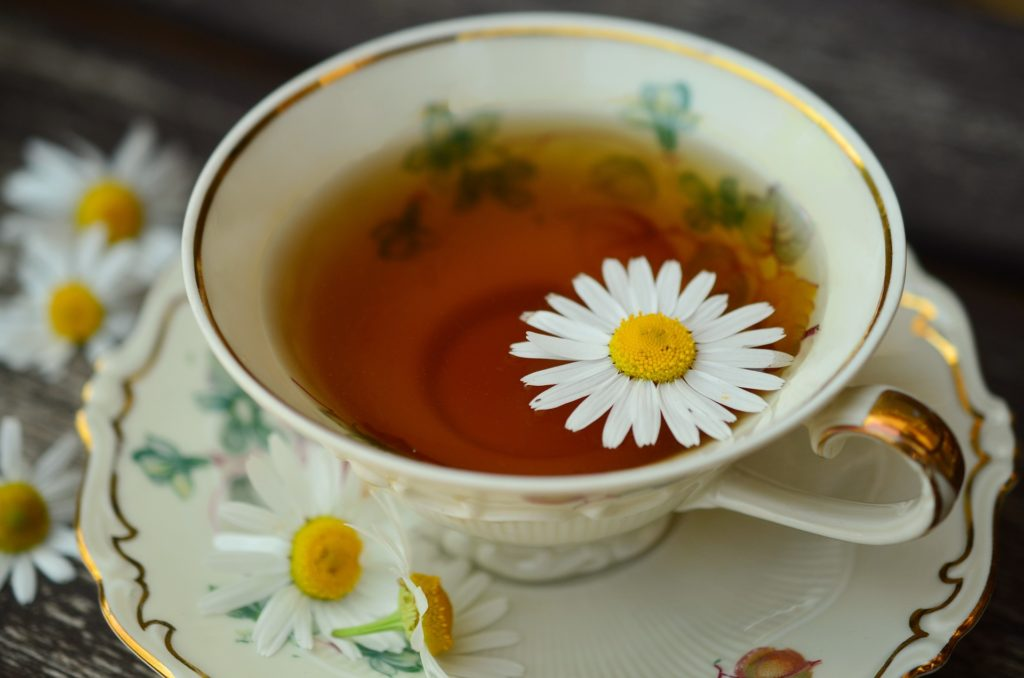 Chamomile tea is great for hay fever