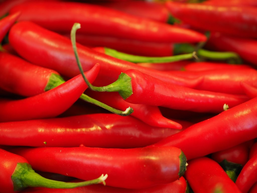 Red chillies relieve congestion